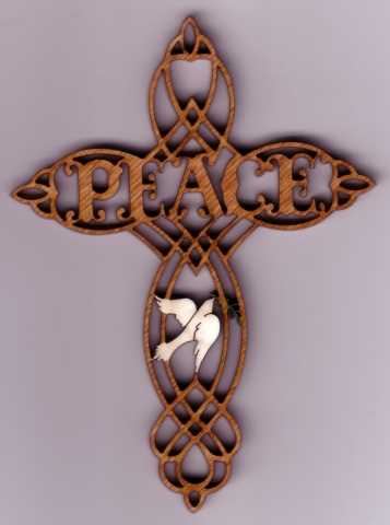 Peace Cross Ornament #096